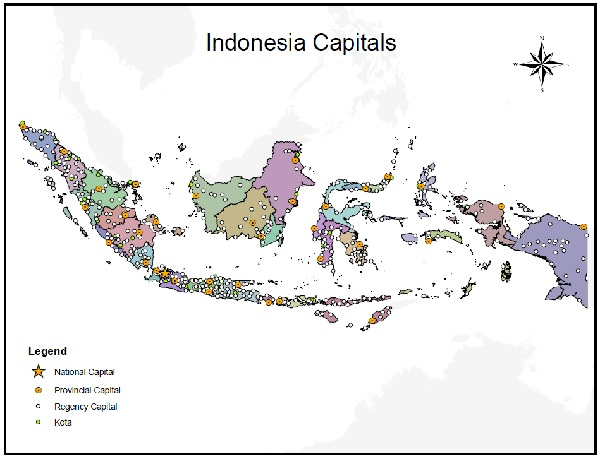 Indonesia capital cities project giscorps capital cities of indonesia freerunsca Gallery